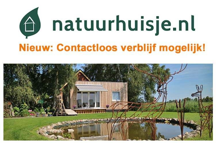 Vakantiehuisje in de natuur contactloos verblijf